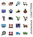 color and black flat icon set   ... | Shutterstock .eps vector #1166779696