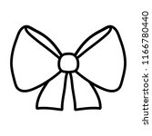 line ribbon bow object to... | Shutterstock .eps vector #1166780440