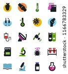 color and black flat icon set   ... | Shutterstock .eps vector #1166783329