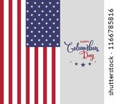 usa columbus day greeting card  ... | Shutterstock .eps vector #1166785816