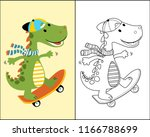 vector of coloring book or page ... | Shutterstock .eps vector #1166788699