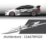 car decal wrap design vector....   Shutterstock .eps vector #1166789320