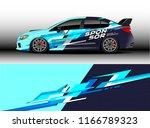 car decal wrap design vector.... | Shutterstock .eps vector #1166789323