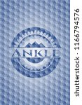 ankle blue emblem or badge with ... | Shutterstock .eps vector #1166794576