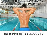 young athletic man near... | Shutterstock . vector #1166797246