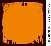 halloween grunge frame in a... | Shutterstock .eps vector #1166799493