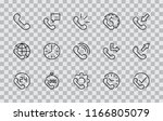 set of phone vector line icons. ... | Shutterstock .eps vector #1166805079