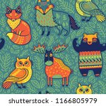 Tribal Forest Animals In...