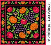 hungarian folk pattern vector.... | Shutterstock .eps vector #1166808829