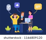 excellent work award. smiling... | Shutterstock .eps vector #1166809120