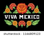 viva mexico  illustration... | Shutterstock .eps vector #1166809123