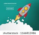 rocket vector design | Shutterstock .eps vector #1166812486