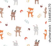 vector seamless pattern with... | Shutterstock .eps vector #1166816170