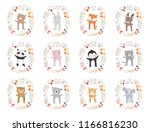 vector collection with animals... | Shutterstock .eps vector #1166816230