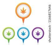 set of cannabis leaf marker...