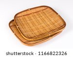 two bamboo weave tray square... | Shutterstock . vector #1166822326