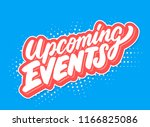 upcoming events. vector... | Shutterstock .eps vector #1166825086