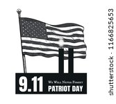 patriot day american flag... | Shutterstock .eps vector #1166825653