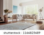 open space  white living room... | Shutterstock . vector #1166825689
