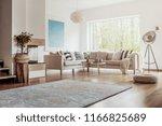 open space  white living room... | Shutterstock . vector #1166825689