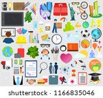 set of colorful icons ... | Shutterstock .eps vector #1166835046