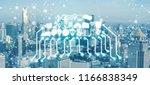 smart city wireless... | Shutterstock . vector #1166838349