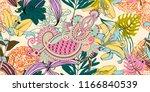 original trendy seamless... | Shutterstock .eps vector #1166840539