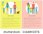 happy family greeting everyone... | Shutterstock .eps vector #1166841076