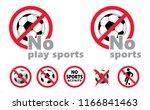no football activity  no play... | Shutterstock .eps vector #1166841463