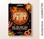 oktoberfest poster vector...   Shutterstock .eps vector #1166841700