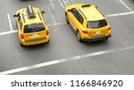 taxi from above  new york city | Shutterstock . vector #1166846920