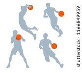 vector basketball players in...   Shutterstock .eps vector #1166849959