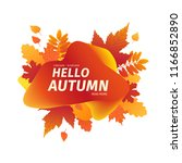template design autumn  banner... | Shutterstock .eps vector #1166852890