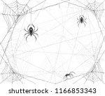 halloween background with... | Shutterstock . vector #1166853343