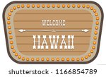 a vintage street sign is... | Shutterstock .eps vector #1166854789