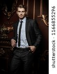 imposing well dressed man in a... | Shutterstock . vector #1166855296