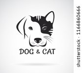 vector of dog and cat face... | Shutterstock .eps vector #1166860666