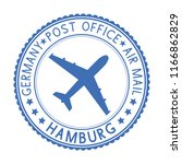 blue round hamburg postmark for ... | Shutterstock . vector #1166862829