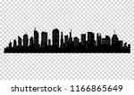silhouette of city with black... | Shutterstock .eps vector #1166865649