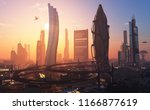 a fantastic city from the... | Shutterstock . vector #1166877619