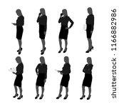 vector set of stand... | Shutterstock .eps vector #1166882986