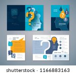 cover book design set  blue... | Shutterstock .eps vector #1166883163