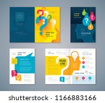 cover book design set  colorful ... | Shutterstock .eps vector #1166883166