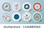 christmas decoration vector... | Shutterstock .eps vector #1166884060