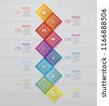 10 steps presentation chart ... | Shutterstock .eps vector #1166888506