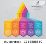 5 steps pyramid with free space ...   Shutterstock .eps vector #1166888560
