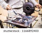 the blacksmith forge.... | Shutterstock . vector #1166892403