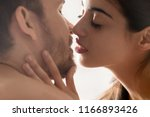 close up of sensual young... | Shutterstock . vector #1166893426