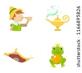 fairy tale vector icons | Shutterstock .eps vector #1166895826