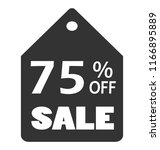 75  off sale discount banner....
